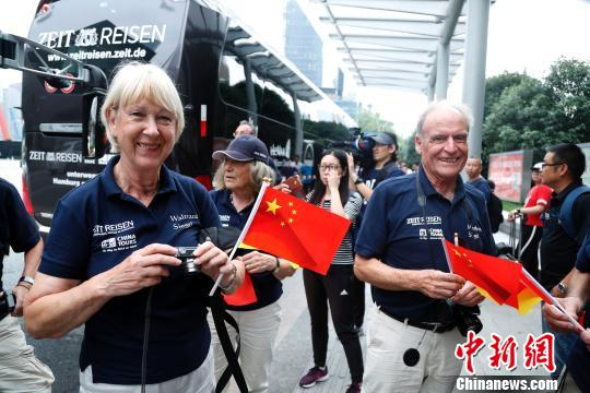 Fifty-six cultural ambassadors from Germany arrived in Shanghai on July 6, 2018. (Photo: China News Service/Tang Yanjun)