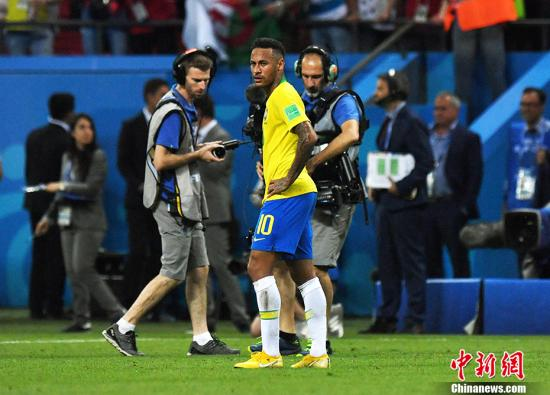资料图:内马尔在2018年世界杯中。 <a target='_blank' href='http://www.chinanews.com/'>中新社</a>记者 田博川 摄