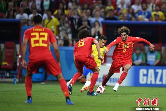 比利时2:1获胜。 中新社记者 田博川 摄