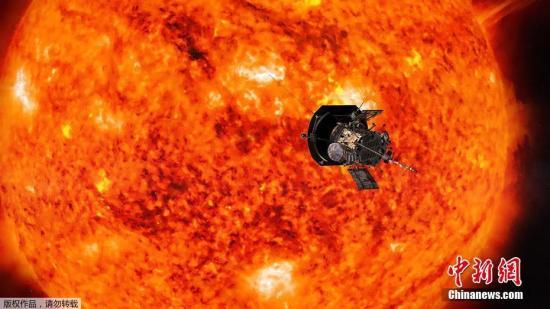图为艺术家绘制的帕克飞向太阳的假想图。