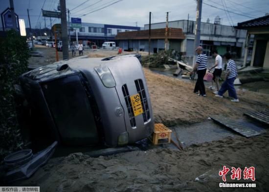 日本暴雨肆虐灾情继续扩大 死亡人数已升至100人