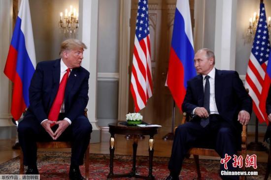 当地时间7月16日,美国总统特朗普与俄罗斯总统普京在芬兰赫尔辛基举走会晤。