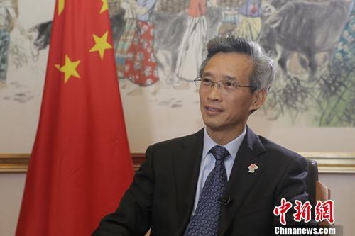 中国驻南非大使林松添。中新社记者 王曦 摄