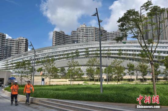 资料图:香港西九龙站。<a target='_blank' href='http://www.chinanews.com/'>中新社</a>记者 麦尚�F 摄