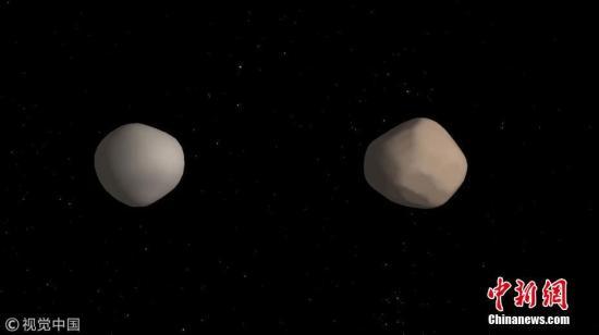 資料圖:地球附近發現罕見的雙小行星。圖片來源:視覺中國