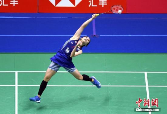 泰国选手因达农在比赛中。(资料图)<a target='_blank' href='http://www.chinanews.com/'>中新社</a>记者 侯宇 摄