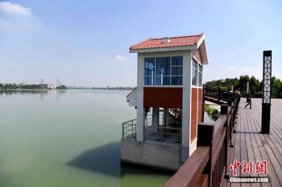 图为晋江龙湖水库。供水工程取水于晋江市龙湖镇的龙湖水源地。据介绍,龙湖面积1.6平方公里,总库容405万立方米。 张斌 摄