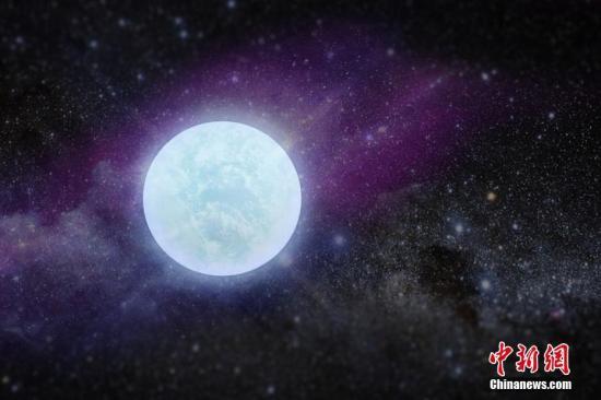 图为白矮星效果图。 中科院国家天文台提供