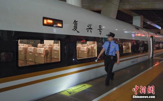 资料图:一列车在北京南站准备发车。中新社记者 贾天勇 摄