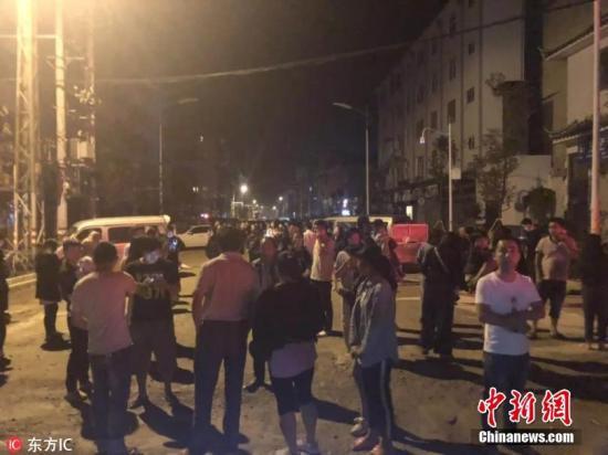 13日01时44分在云南玉溪市通海县发生5.0级地震,震源深度7千米。。 图片来源:东方IC 版权作品 请勿转载