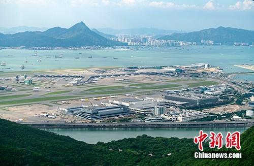 资料图:香港国际机场。中新社记者 张炜 摄