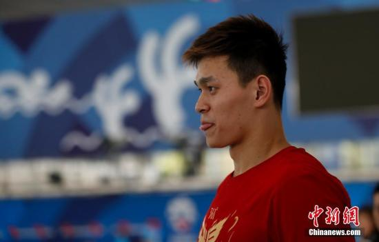 资料图:孙杨举行训练。 <a target='_blank' href='http://www.chinanews.com/'>中新社</a>记者 杜洋 摄