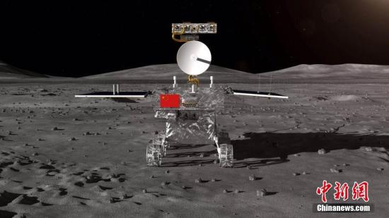 材料图:嫦娥四号月球车表面设想构型。 国防科工局探月取航天工程中间 供图