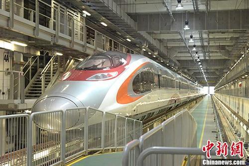 资料图:动感号列车。 <a target='_blank' href='http://www.chinanews.com/'>中新社</a>记者 李志华 摄