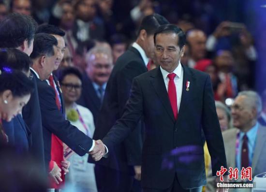 资料图:印尼总统佐科·维多多出席2018雅加达亚运会的开幕式。 中新社记者 侯宇 摄