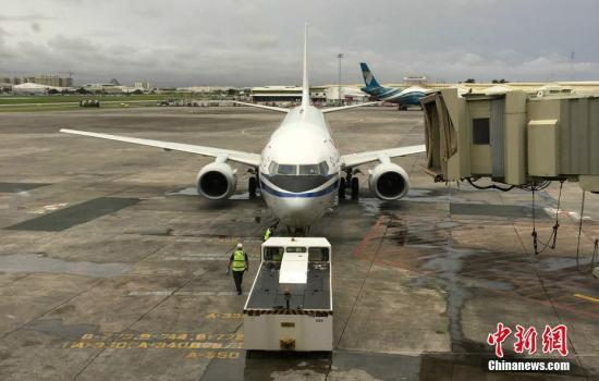 资料图:国际航班。 发 国航马尼拉办事处 摄