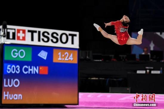 图为中国队员罗欢比赛中。<a target='_blank' href='http://www.chinanews.com/'>中新社</a>记者 杨华峰 摄