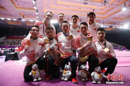 资料图:中国男子体操队。<a target='_blank' href='http://www.chinanews.com/'>中新社</a>记者 刘关关 摄