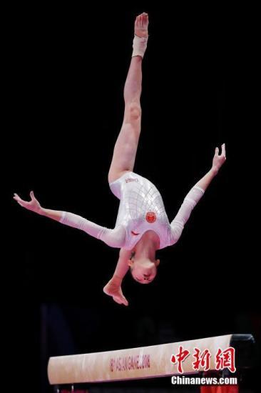 资料图:中国女子体操选手在比赛中。<a target='_blank' href='http://www.chinanews.com/'>中新社</a>记者 刘关关 摄