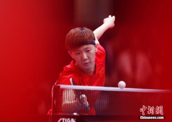 资料图:中国选手王曼昱。/p中新社记者 刘关关 摄