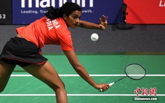 8月28日,亚运会羽毛球女单决赛,印度选手辛杜0比2不敌中国台北选手戴资颖获亚军。中新社记者 王东明 摄