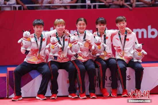 乒乓球世界杯团体赛:中国女队横扫美国晋级四强