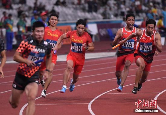 雅加达亚运会:中国男子4X100接力摘铜