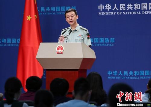 中国国防部新闻讲话人吴谦。 <a target='_blank' href='http://www.chinanews.com/'>中新社</a>记者 宋吉河 摄