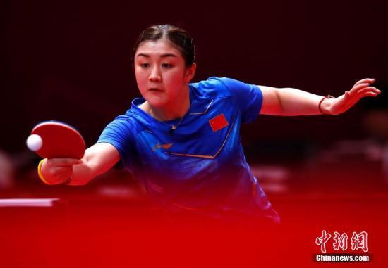 当地时间8月31日在第18届亚运会乒乓球女单比赛中中国选手陈梦战胜对手晋级四强。图为陈梦在比赛中。<a target='_blank' href='http://www.chinanews.com/' rel=
