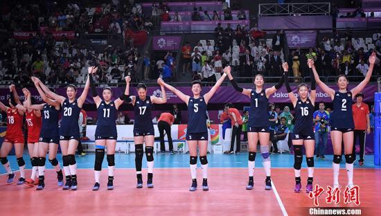 中国女排3:0完胜美国队 提前一轮晋级六强