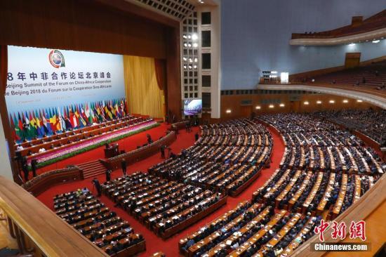 9月3日,中非合作论坛北京峰会在北京人民大会堂开幕。<a target='_blank' href='http://www.chinanews.com/'>中新社</a>记者 富田 摄