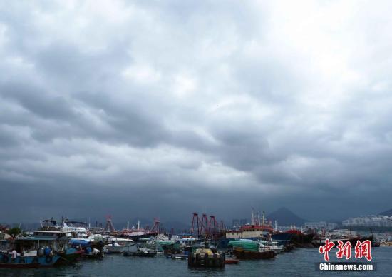 资料图:香港大批渔船停泊筲箕湾避风塘。<a target='_blank' href='http://www.chinanews.com/'>中新社</a>记者 洪少葵 摄