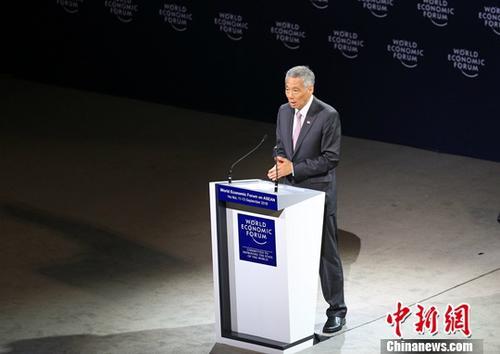 资料图:新加坡总理李显龙。平心在线记者 张晨翼 摄