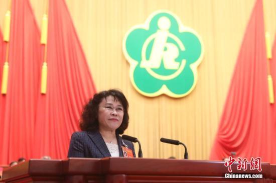 资料图:中国残联主席张海迪。 中新社记者 盛佳鹏 摄