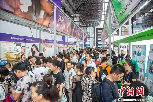资料图:第15届中国—东盟博览会。中新社记者 陈冠言 摄