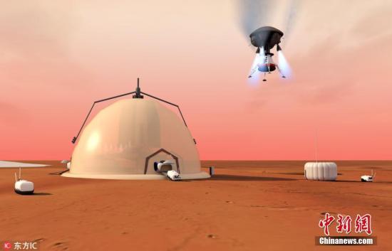 9月18日报道(具体拍摄时间不详),据外媒报道,在一项新的研究中,来自瑞士洛桑联邦理工学院(EPFL)的科学家们设计了一个火星的自我维持研究基地,可以支持多年的载人任务。此项研究的多步骤计划包括将机器人送到火星建造基地,收集利用红色星球的自然资源,并最终派遣航天员在那里生活至少9个月。与其他之前已经提出的理论一样,EPFL的科学家们认为,人类最有可能在火星北极成功建立基地,因为火星的两极含有重要的自然资源,适合维持人类生命。他们设想研究基地在未来可以支持人类殖民,这也将在未来几代人中得到发展。据科学家称,研究基地将由三个不同的模块构成。基地的主要固定装置包括一个高12.5米,直径5米的核心...