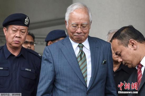 图为马来西亚前总理纳吉布资料图片。
