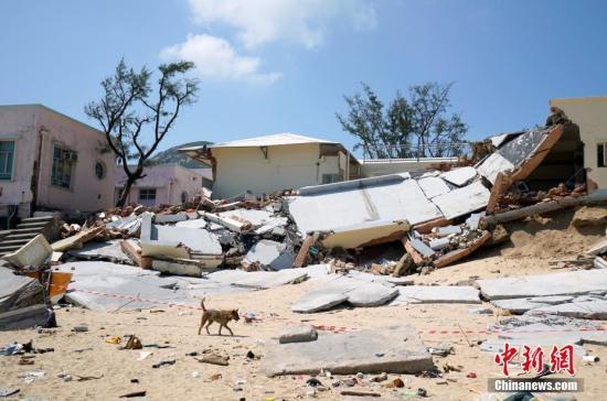 """台风""""山竹""""对香港石澳渔村造成严重损毁。<a target='_blank' href="""