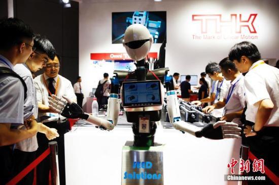 9月20日,正在上海国家会展中心举行的2018中国工博会,吸引了中外2000多家厂商前来参展。 <a target='_blank' href='http://www.chinanews.com/'>中新社</a>记者 汤彦俊 摄
