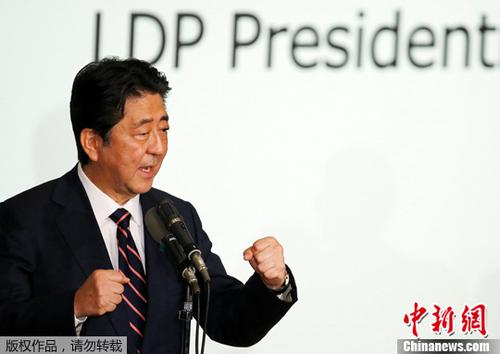 材料图片:日本辅弼安倍晋三。
