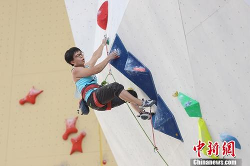 资料图:攀岩 中新社记者 瞿宏伦 摄