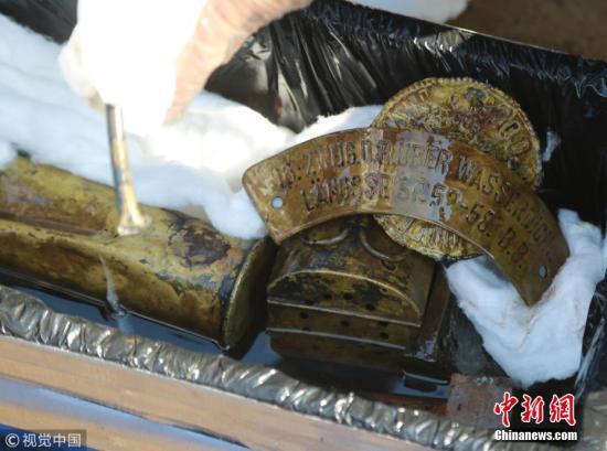 资料图:部分经远舰出水文物。王华 摄 图片来源:视觉中国