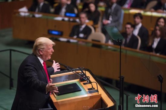 资料图:美国总统特朗普。<a target='_blank' href='http://www.chinanews.com/'>中新社</a>记者 廖攀 摄