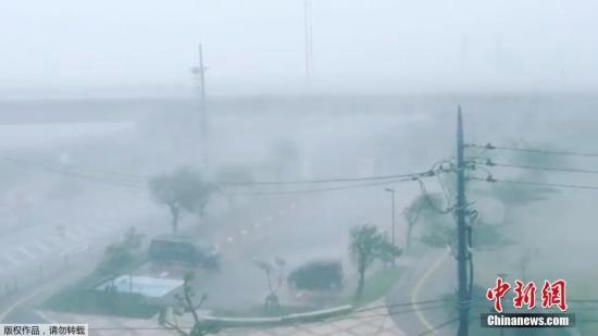 """当地时间2018年9月29日,今年第24号台风""""潭美""""20日袭击日本冲绳,继续向北行进,并已造成至少18人受伤。"""