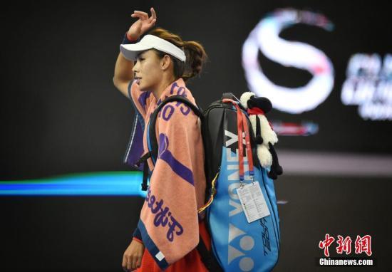资料图:王蔷未能成为中网历史上首位打入女单决赛的中国球员,但她表现已足够出色。 中新网记者 李霈韵 摄