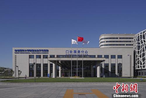 图为北京天坛医院新院区门诊服务中心外景。 中新社记者 贾天勇 摄