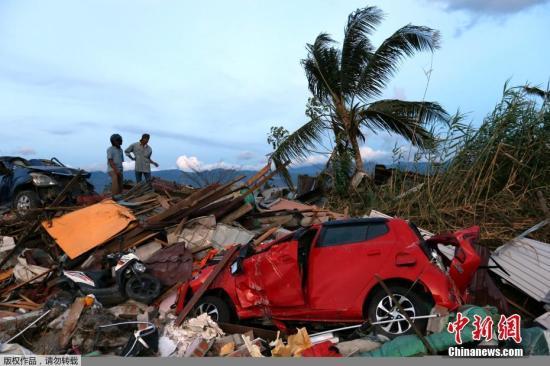 资料图:印尼地震灾区。