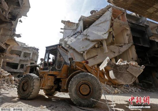 资料图:叙利亚首都大马士革近郊雅尔穆克难民营。