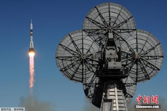 资料图:俄联盟号火箭发射升空。