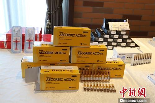材料图:被查获的假药。。a target='_blank' href='http://www.chinanews.com/'种孤社/a记者 胡小丽 摄